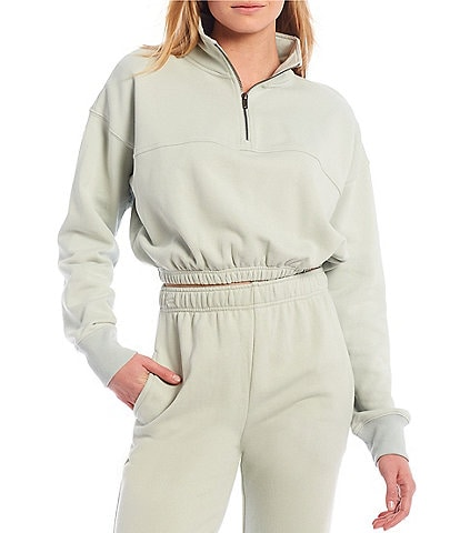 NIA Knit Cinched Quarter Zip Long Sleeve Coordinating Pullover