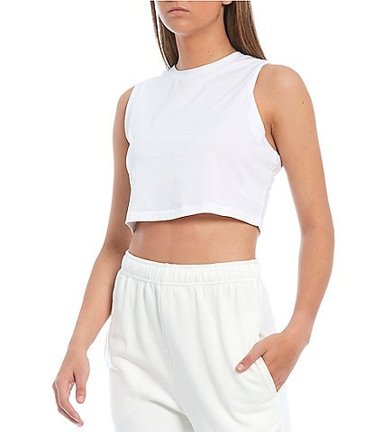 NIA Knit Crew Neck Cropped Coordinating Tank Top