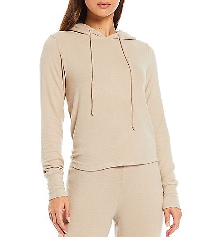 NIA Knit Hacci Rib Knit Pullover Long Sleeve Coordinating Hoodie