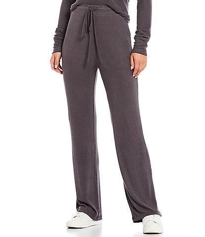 NIA Straight Leg Front High Waist Coordinating Lounge Drawstring Pants