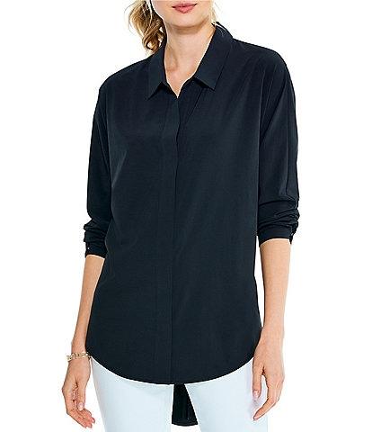 NIC + ZOE Long Sleeve Wrinkle Resistant Tech Stretch Shirt