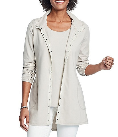 NIC + ZOE Perfect Hi-Low Hooded Drawstring Jacket