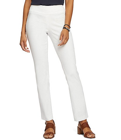 NIC + ZOE Polished Wonderstretch Stain Straight Leg Pant