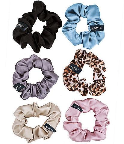 100% Silk Scrunchies - 6 pack