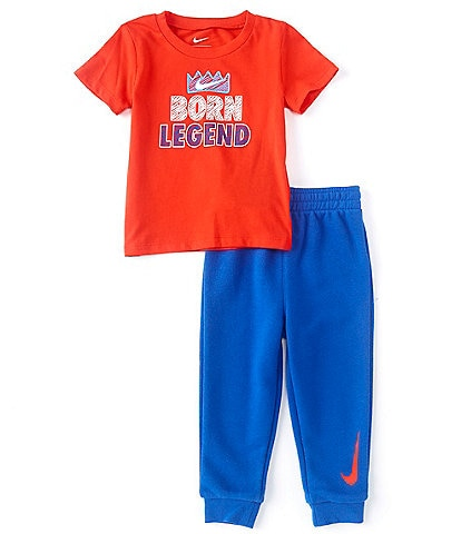 Nike Baby Boys 12-24 Months Short-Sleeve Born Legend Tee & Sueded French Terry Jogger Pants Set
