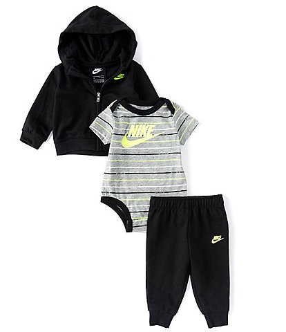 Nike Baby Boys Newborn-24 Months Hoodie, Jogger Pants & Striped Bodysuit Set