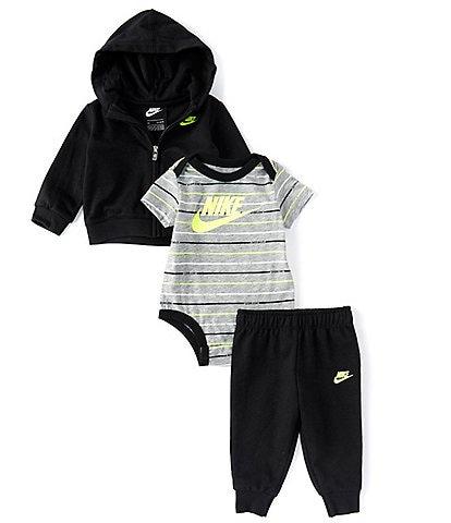 Nike Baby Boys Newborn-24 Months Hoodie, Jogger Pants & Striped Bodysuit Set