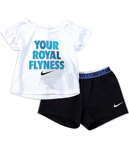 Nike Baby Girls 12-24 Months Short-Sleeve Your Royal Flyness Tee & Short Set