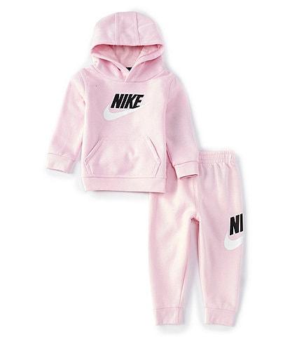 Nike Baby Girls 12-24 Months Metallic-Logo Fleece Hoodie & Jogger Pant Set