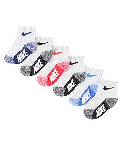 Nike Baby Girls 12-24 Months Multi-Logo Ankle Socks 6-Pack