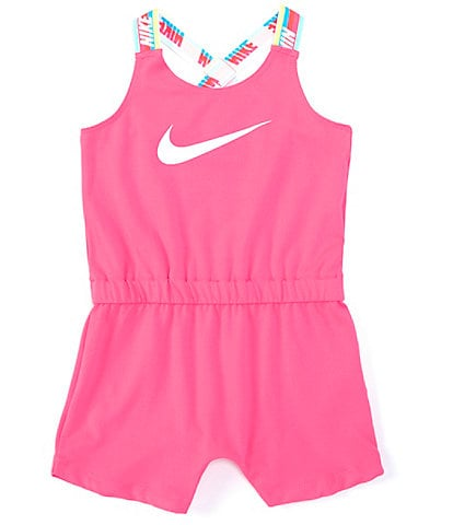 Nike Baby Girls 12-24 Months Rainbow-Taping Romper