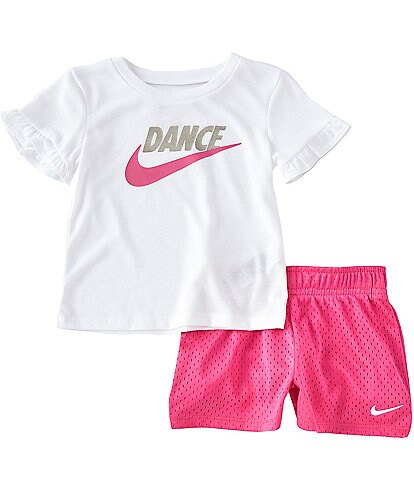 c612b338ee6 Nike Baby Girls 12-24 Months Short-Sleeve Dream Tee   Shorts Set
