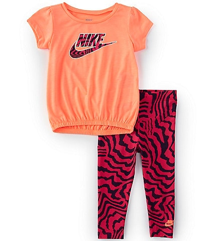 Nike Baby Girls 12-24 Months Short-Sleeve Electric Tunic & Zebra-Print Legging Set