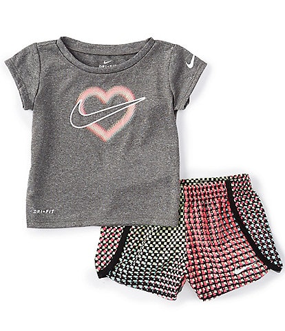 Nike Baby Girls 12-24 Months Short-Sleeve Pixel Pop Tee & Shorts Set
