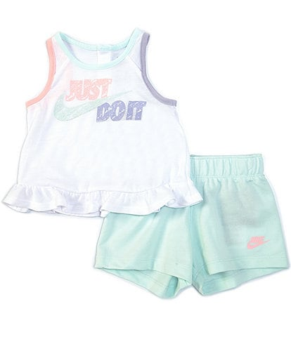 Nike Baby Girls 12-24 Months Sidewalk Chalk Tank Top & Short Set