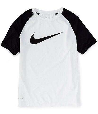 Nike Big Boys 8-20 Short-Sleeve Colorblock Dri-FIT Raglan Tee