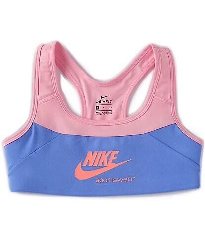 Nike Big Girls 7-16 Dri-FIT Swoosh Colorblock Sports Bra