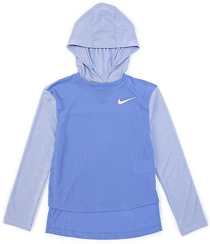 Nike Big Girls 7-16 Long-Sleeve Drop-Hem Hooded Top