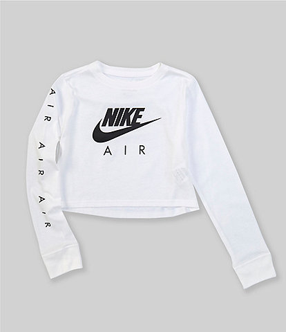 Nike Big Girls 7-16 Long-Sleeve Nike Air Cropped Tee