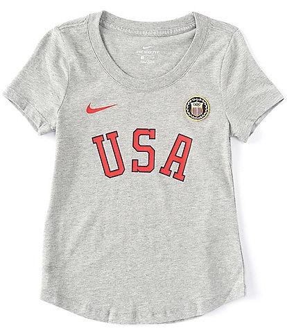 Nike Big Girls 7-16 Short-Sleeve Americana Olympics Tee