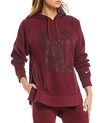 Nike Dri-FIT Get Fit Sparkle Fleece Pullover Training Hoodie