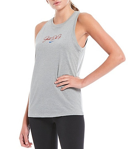 Nike Dri-FIT Training Just Do It Graphic Font Detail Cotton Blend Tank