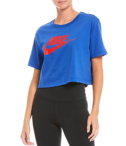 Nike Essential Jersey Cropped Cotton Short Sleeve T-Shirt
