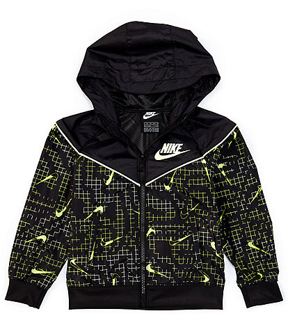 Nike Little Boys 2T-7 Digi AOP Swoosh Ripstop Windrunner Jacket