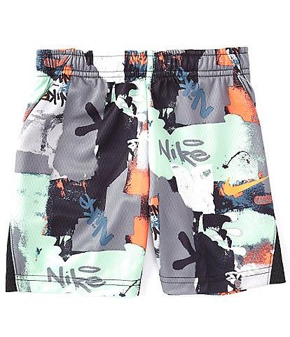Nike Little Boys 2T-7 Dri-FIT Grafitti AOP Shorts