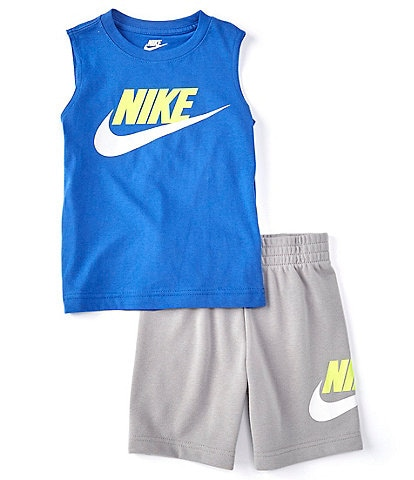Nike Little Boys 2T-7 Futura Muscle Tank & French Terry Short Set