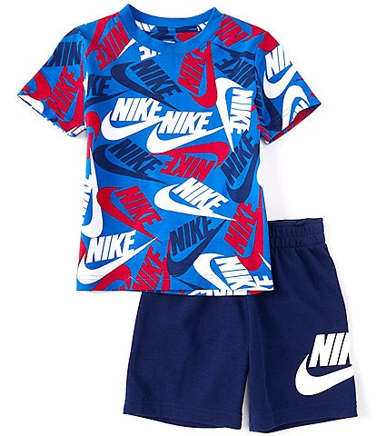 Nike Little Boys 2T-7 Short-Sleeve New Toss Tee & Sueded French Terry Shorts Set