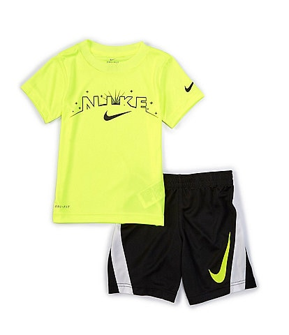 Nike Little Boys 4-6X Short-Sleeve Eclipse Tee & Shorts Set