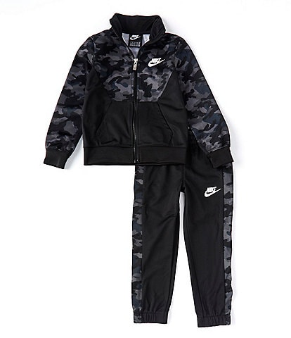 Nike Little Boys 4-7 Camo Colorblock Faux-Sherpa Jacket & Pant Tricot Set