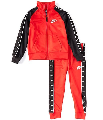 Nike Little Boys 4-7 Swoosh-Taping Jacket & Jogger Pant Tricot Set