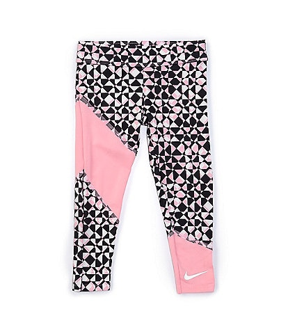 Nike Little Girls 2T-6X Colorblock Pieced Rebel Prep Leggings