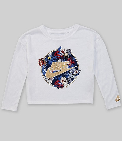 Nike Little Girls 2T-6X Long-Sleeve Floral Graphic T-Shirt
