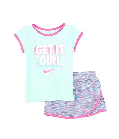 Nike Little Girls 4-6X Short-Sleeve Get It Girl Tee & Scooter Set