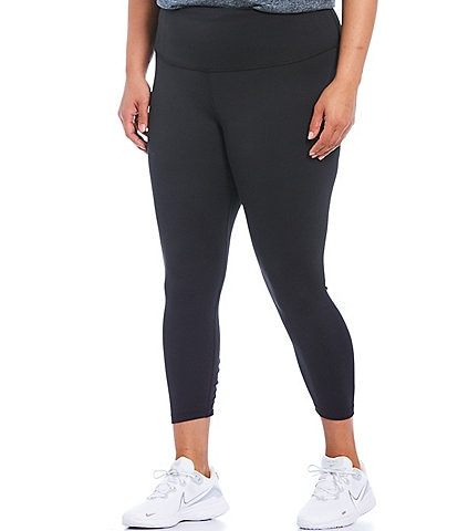 Nike Plus Size Ruched 7/8 Yoga High Rise Tights