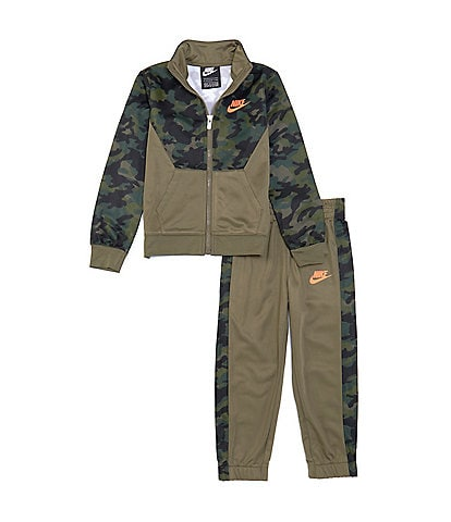Nike Toddler Boys 2T-4T Camo Colorblock Faux-Sherpa Jacket & Pant Tricot Set
