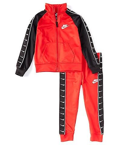 Nike Toddler Boys 2T-4T Colorblock Swoosh Taping Jacket & Jogger Pant Tricot Set