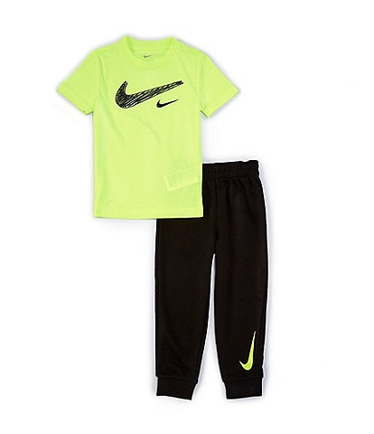 Nike Toddler Boys 2T-4T Short-Sleeve Swoosh Tee & French Terry Jogger Pant Set