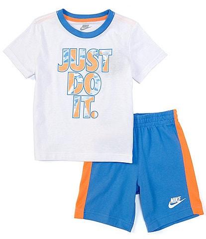 Nike Toddler Boys 2T-4T Short-Sleeve Tide Pool JDI Fill-Logo Tee & Mesh Short Set