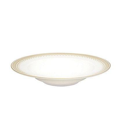 Nikko Lattice Gold Scalloped Bone China Soup Bowl