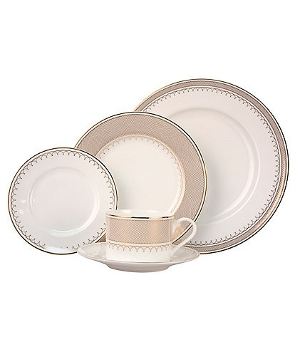 Nikko Lattice Gold Scalloped Bone China