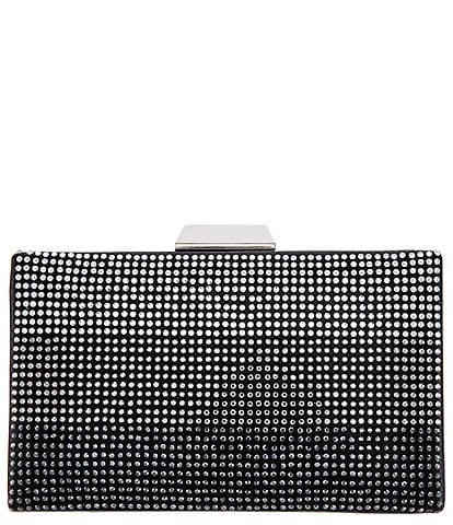 Nina Apolonoa Colorblock Crystal Minaudiere Bag