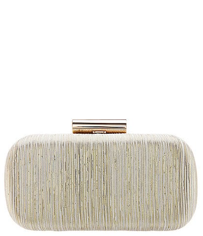 Nina Bedford Metallic Striped Minaudiere Bag
