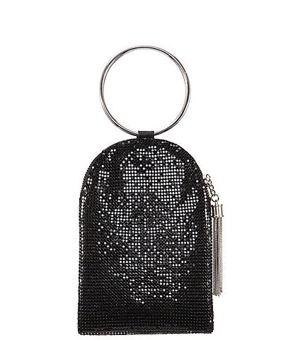 Nina Ring-Handle Mesh Clutch