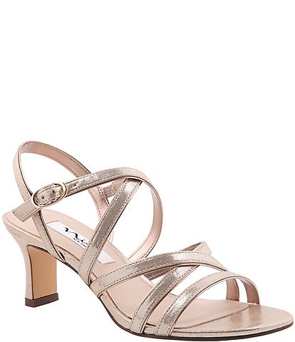 Nina Genaya Metallic Strappy Dress Sandals