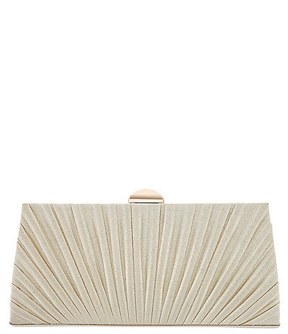 Nina Haeley Metallic Pleated Frame Clutch Bag