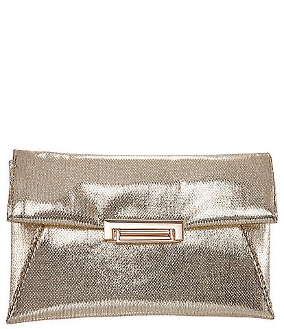 Nina Jaklyn Metallic Embossed Snake Envelope Clutch Bag